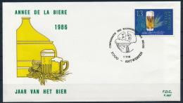Belgium Belgien FDC Special Postmark Beer Brewery Bier Brauerei °BL0999 - Biere