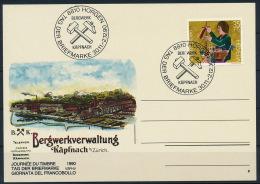 Switzerland Schweiz Special Cover & Postmark Mine Bergwerk Käpfnach Bergbau °BL1038 - Fabriken Und Industrien