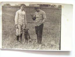 Cpa, Carte Photo, 14-18, Allemagne, Carte Allemande, Militaires Allemand, Un Mâitre Chien - Guerre 1914-18
