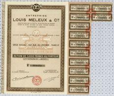 """Ent Louis Meleux Et Cie """"Faire Vite-bien Faire"""" - Chemin De Fer & Tramway"""