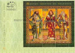 HUNGARY-2013. FDC Souvenir Sheet - Hungarian Saints And Blesseds I./Exclusive Version With Gold Overprint MNH!!! - FDC