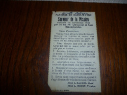 Souvenir Mission Basse Wavre 1932 - Communion