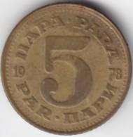 @Y@    Joegoslavië  5 Para  1978  (C335) - Yougoslavie