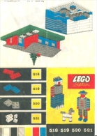 LEGO SYSTEM - Plan Notice 518 - 519 - 520 - 521 (Pad. Pend S 152). - Plans