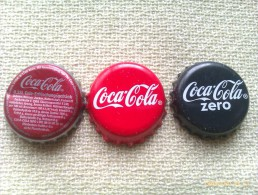 Lote 3 Chapas Kronkorken Caps Tappi Coca Cola. Alemania - Capsules & Plaques De Muselet