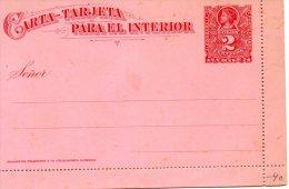 Nr 591,   Ganzsache   Chile, Kartenbrief - Chili
