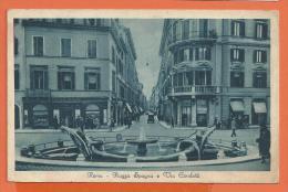 Y294, Roma, Piazza Spagna , Via Condotti, Circulée 1931 Timbre Décollé - Places & Squares