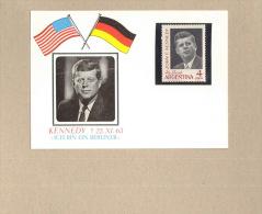 Kennedy Karte Mit Briefmarke Argentinien 1964 ** MNH - Kennedy (John F.)