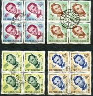 HAITI   Mi. Nr.   572 -575  -   Gestempelt    4er Block    150. Geburtstag Von Abraham Lincoln - Haiti