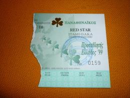 Panathinaikos-Red Star Euroleague Basketball Ticket 2000 - Match Tickets
