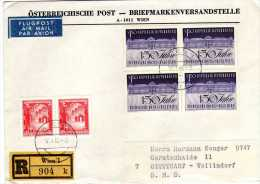 Registered Letter To Germany,Air Mail,nice Stamps - 1961-70 Briefe U. Dokumente