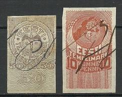ESTLAND Estonia Estonie 1919 Revenue Tax Stamps Steuermarken Stempelmarken - Estonie