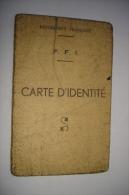 MILITARIA - CARTE IDENTITE - FFI ( FORCES FRANCAISES INTERIEUR ) - REGIMENT DE LYON - SIGNATURE COLONEL LICART - Documenten