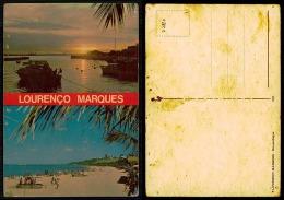 PORTUGAL COR 27820  - MOÇAMBIQUE MOZAMBIQUE - LOURENÇ0 MARQUES PORTO E PRAIA - Mozambique