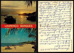 PORTUGAL COR 27832  - MOÇAMBIQUE MOZAMBIQUE - LOURENÇO MARQUES - PRAIA E PORTO - Mozambique