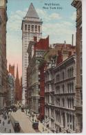 ETATS UNIS D´AMERIQUE NEW YORK CITY WALL STREET BELLE CARTE RARE !!! - Wall Street