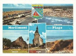 Cp, 62, Merlimont-Plage, Multi-Vues,voyagée 1974 - Autres Communes