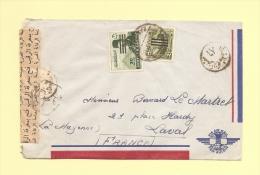 Port Said Pour La France - Censure - Briefe U. Dokumente