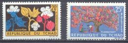 Tchad YT N°99/100 Le Coton Et Flamboyant Neuf/charnière * - Tsjaad (1960-...)