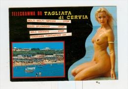 Telegramma Da TAGLIATA DI CERVIA,vedute Con PIN-UP-1989 - Ravenna