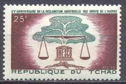 Tchad YT N°93 Déclaration Universelle Des Droits De L´homme Neuf/charnière * - Tsjaad (1960-...)
