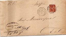 1900  LETTERA CON ANNULLO OSPEDALETTO EUGANEO PADOVA - DENTELLATURA FORTEMENTE SPOSTATA - 1878-00 Umberto I