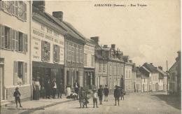 """AIRAINES  -  Rue  Tripier  /  Animée  Magasin  """" Au Bon Gout """"  Bonneterie Modes - France"""