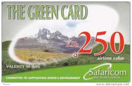 Kenya, KSh 250, The Green Card, Expiry : 16-09-2010. - Kenya