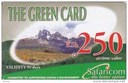 Kenya, KSh 250, The Green Card, 2 Scans.     Expiry : 2008/08/06. - Kenya