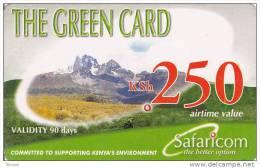 Kenya, KSh 250, The Green Card, 2 Scans.      Expiry : 12-01-2010. - Kenya