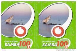 Kenya, Bamba 2x100, Special / Small Card, Boat, Expiry : 29-11-2008. - Kenya