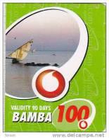 Kenya, Bamba 100, Special / Small Card, Boat, 2 Scans.    Expiry : 19-03-2011. - Kenya