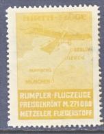 GERMANY  AEROPHILATELIC  VIGNETTE  HIRTHFLUGE   * - Airmail