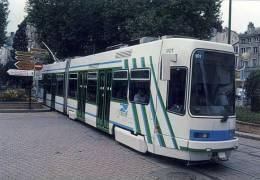 Train LRT  No.901 Built Duewag/Vevey/Gec Seeing Here At Hotel De Ville St. Etienne, France - Tramways