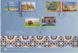 United Nations FDC World Heritage - Africa - Tanzania, Kilimanjaro - Mali, Djenné - Congo, Virunga Park - Tunisia - 2012 - FDC