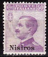 DODECANESE  1912 NISIROS 50 Ct. Lila  Vl. 7 MH - Dodekanesos