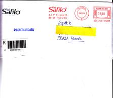 ITALIA - SAFILO - Padova - - Affrancature Meccaniche Rosse (EMA)