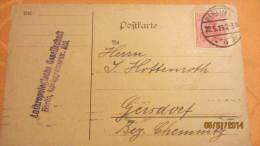 Postkarte Geschäftspost Vom 22.5.1919 Von Berlin (Anthropologische Gesellschaft) Nach Geisdorf - Deutschland