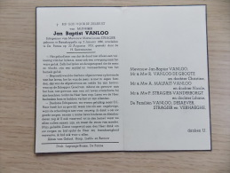 Doodsprentje Jan Baptist Vanloo Ramskappelle 2/1/1990 De Panne 22/8/1953 (Marie Louise Stragier) - Religion & Esotérisme