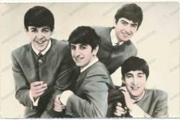 THE BEATLES, Old Tinted Photo Postcard - Sänger Und Musikanten