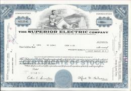 The Superior Electric Company, 1971., 89 Shares - Electricité & Gaz