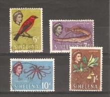ST HELENA - 1961 QEII ISSUE GROUP TO 1/- USED  Sc 159 Up - Saint Helena Island