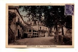 Canton De Martel Village De Montvalent Dans Les Années 30 Vue De L'avenue De Rocamadour Ecrite En 1938 - Autres Communes