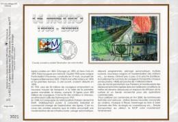 """Feuillet CEF En Soie De 1999 N° 1477s """" 100 ANS DU METRO """" N° YT 3292. Parfait état + Prix Degressif ! - Tramways"""
