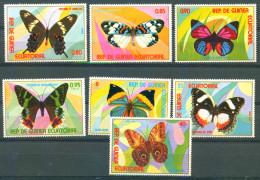 Guinea Equatorial 1976 Butterfies 7v MNH - Equatorial Guinea