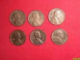 Lot One Cent/ 1953/1955D/1956D/1960D/19 61/1961D En TTB. - EDICIONES FEDERALES
