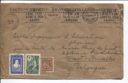 Finland Helsinki 1941 German Censor (b) Berlin + Cinderella Tp Brussels Belgium PR356 - Finlande