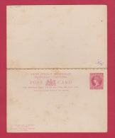 TRINIDAD // Entier Postal Avec Coupon Réponse //  One Penny Rose - Trinité & Tobago (...-1961)
