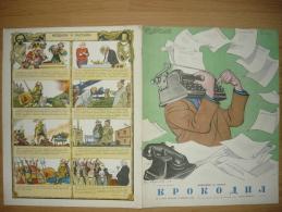 RUSSLAND 30.01.1954 - KROKODIL NR.III, 16 Seite,3scans,Super Zustand +PayPal - Books, Magazines, Comics