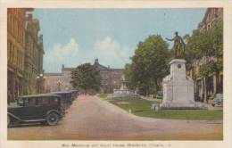 NH5 - War Memorial And Court House Brockville Ontario Cars 1920s, Photogelatine Engraving - Brockville